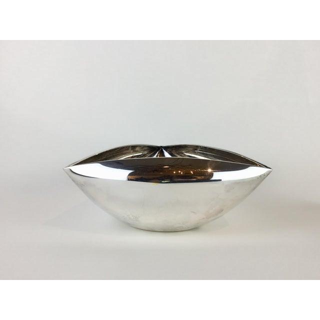Pampaloni Italian Triangular Pampaloni Silver Plate Bowl For Sale - Image 4 of 11