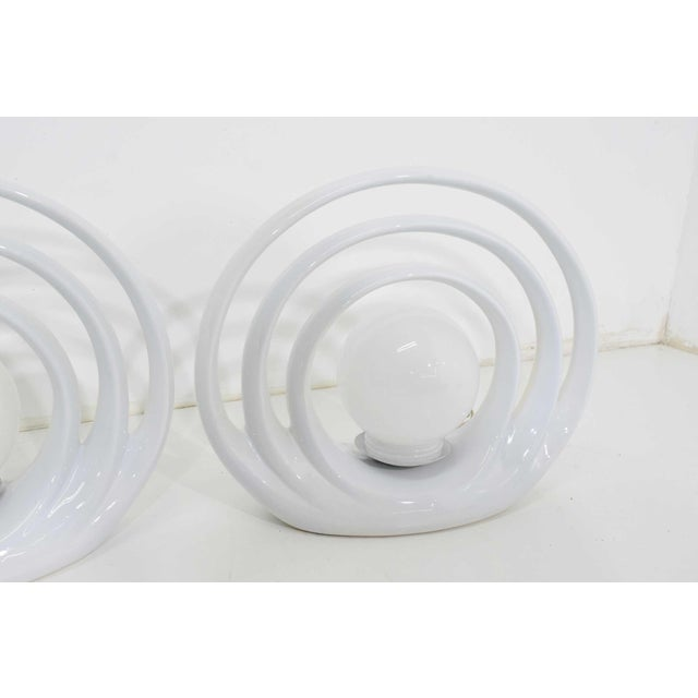 Mid-Century Modern Mid-Century Circular Table Lamps, 1960s - a Pair For Sale - Image 3 of 8