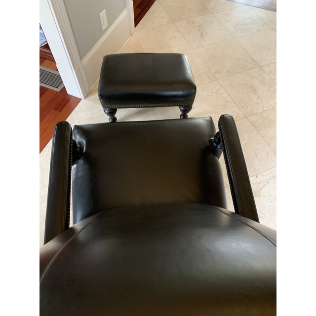 Classic Study Chair & Ottoman For Sale - Image 11 of 13