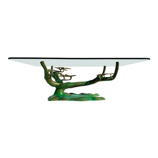 Willy Daro Brass Bonsai Tree Coffee Table Base For Sale