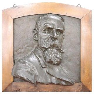 20th Century Italian Sculpture in Bronze Portrait of a Gentleman For Sale