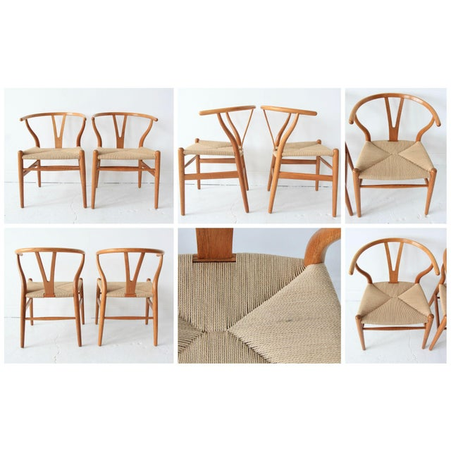 Vintage Hans Wegner Wishbone Chairs - Set of 4 - Image 9 of 10