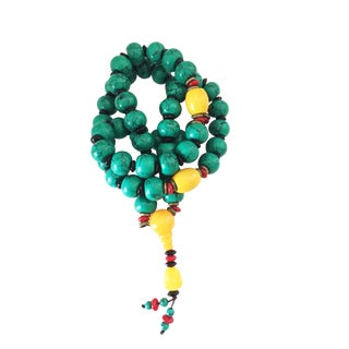 Nepalese Turquoise /Amber Prayer Beads