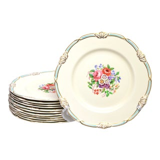 Early 20th Century Staffordshire English Plates - Set of 12 For Sale