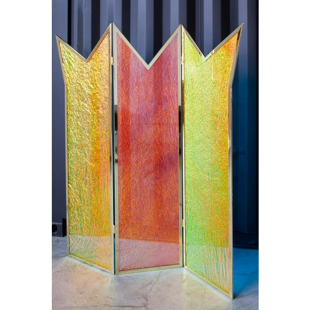 Abstract Crazy Crown Screen/Room Divider by Artist Troy Smith - Contemporary Design - Artist Proof - Custom Furniture For Sale - Image 3 of 6