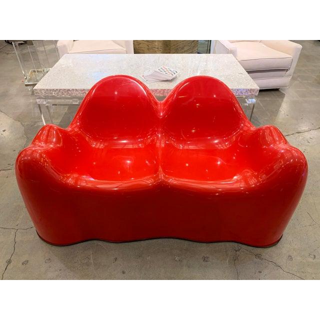Gloss Gel Fiberglass Molar Settee For Sale - Image 11 of 11