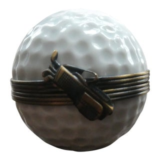 1990s Limoges Golf Ball Box For Sale