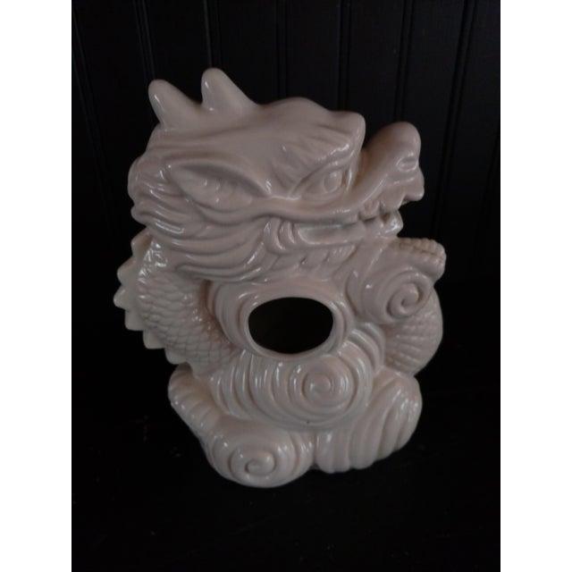 Asian Blanc De Chine Dragon Vase For Sale - Image 3 of 6