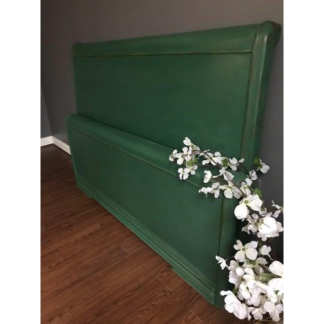 Dixie Furniture Art Deco Waterfall Full Headboard & Footboard For Sale - Image 10 of 12