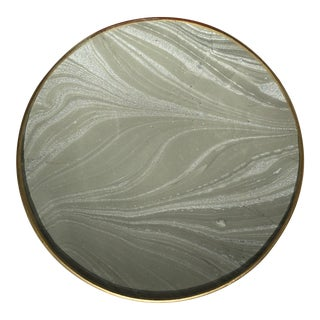 Hand-Marbled Glass Tray