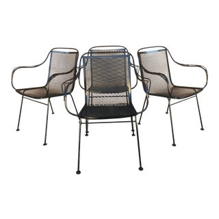 Mid Century Modern Salterini for Tempestini Wrought Iron Back Chairs For Sale