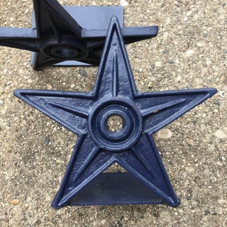 Vintage Architectural Star Wall Anchor Bookends - a Pair Preview