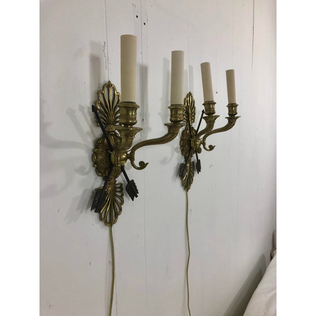 Early 19th Century Empire Period Wall Sconces a Pair For Sale - Image 5 of 7