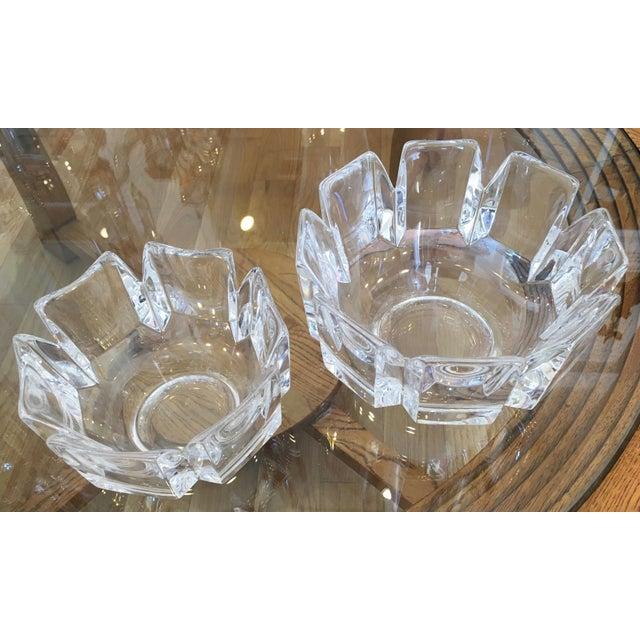 "Orrefors ""Corona"" Crystal Bowls - A Pair - Image 5 of 10"