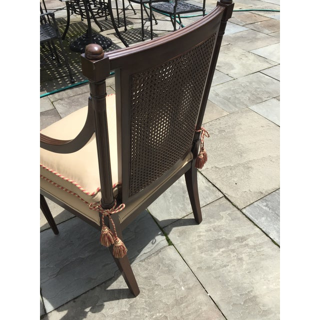 Cane Backed Side Chair With Custom Cushion For Sale - Image 4 of 9