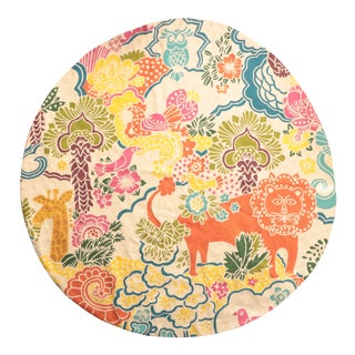 Tropical Menagerie Round Rug - 5' For Sale