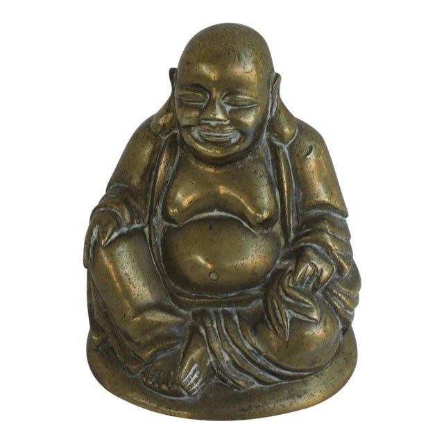 Vintage Brass Seated Buddha - Image 1 of 6