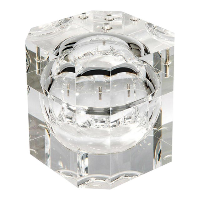 Mid-Century Modern Clear Acrylic Ice Bucket For Sale - Image 3 of 3