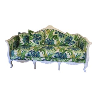 French Style Shabby Chic Sofa For Sale