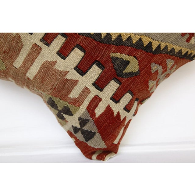 Textile 1970s Handmade Kilim Pillow Cover For Sale - Image 7 of 8