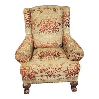 Taylor King Upholstered Armchair Club Chair For Sale