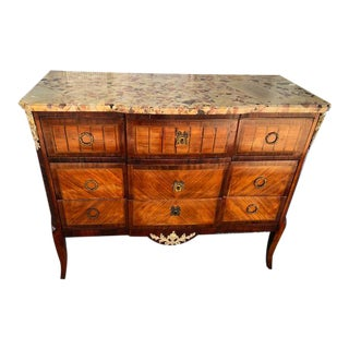 Antique French Marble Top Commode For Sale