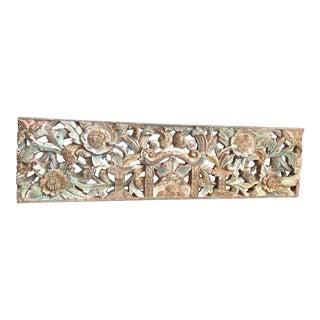 Antique Carved Wood Panel For Sale