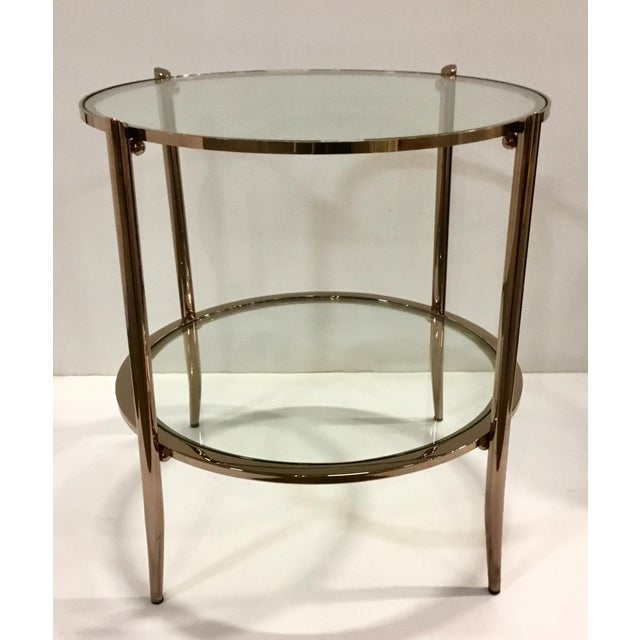 2010s Modern Caracole Metal and Glass at First Blush End Table For Sale - Image 5 of 5