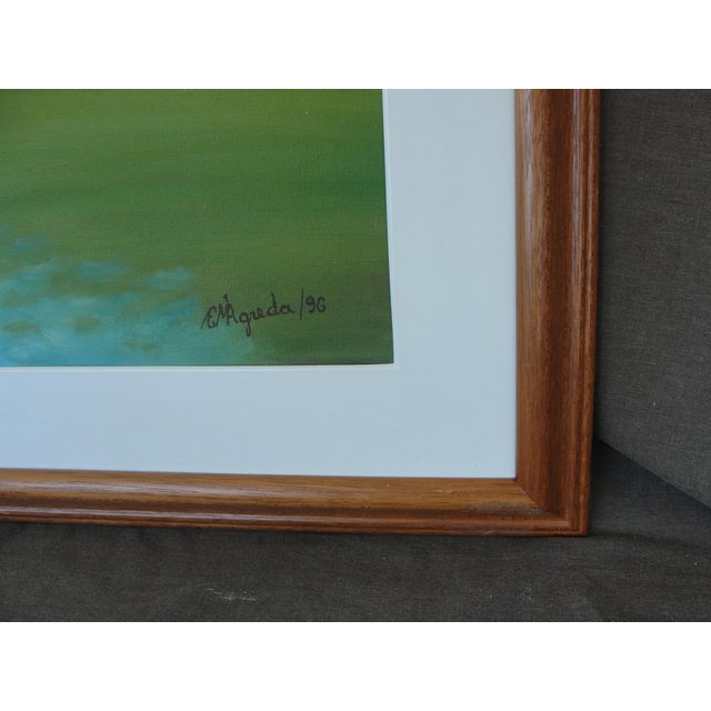 Vintage Harbor Impressionist Oil on Canvas Painting For Sale In Tampa - Image 6 of 9