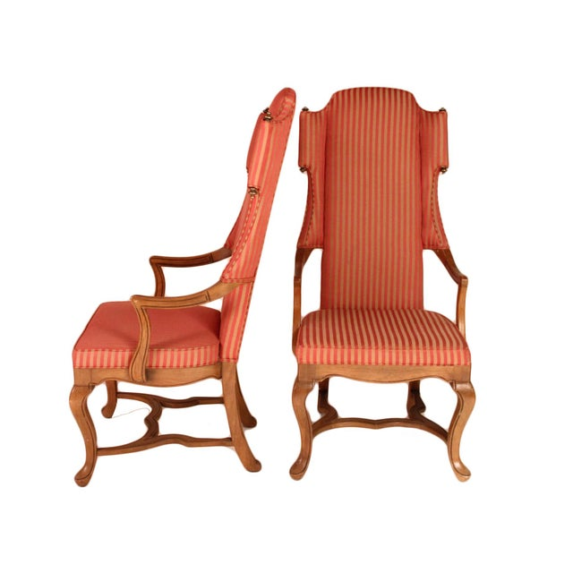 Contemporary Drexel Wingback Arm Chairs - a Pair For Sale - Image 3 of 5