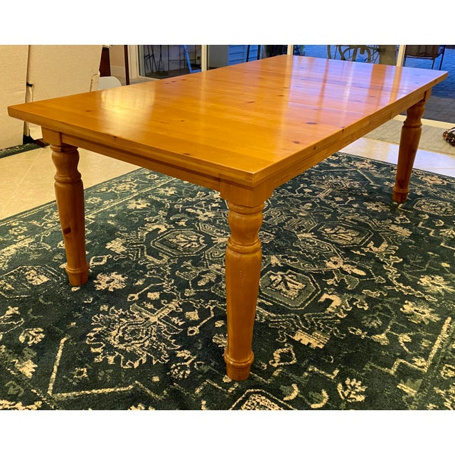 2000 - 2009 Broyhill Wood Dinning Room Set With Hutch For Sale - Image 5 of 6