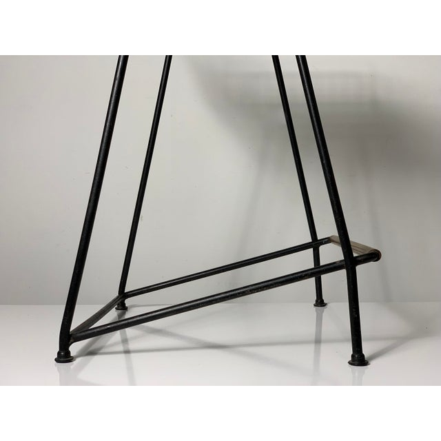 1960s 1960s Vintage Tony Paul Iron Wire Counter Bar Stool For Sale - Image 5 of 11