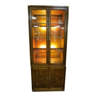 1960s Mid-Century Modern Henredon Lighted Cabinet/Bookcase For Sale