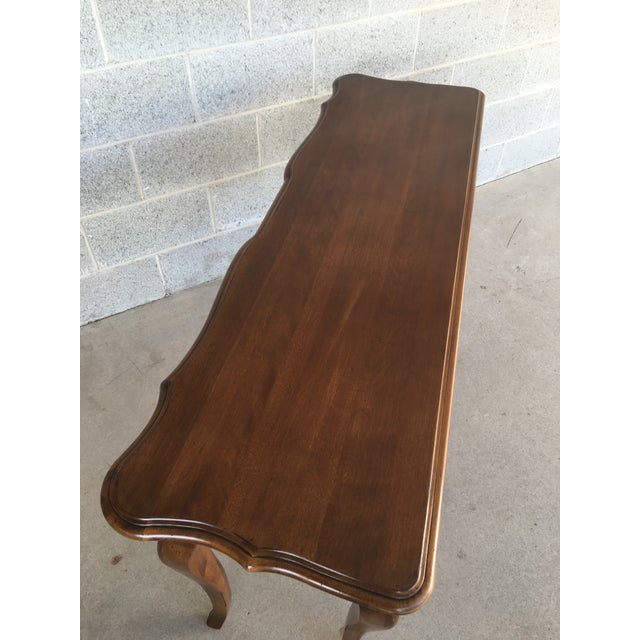 1980s Ethan Allen French Country 3 Drawer Console For Sale - Image 5 of 8