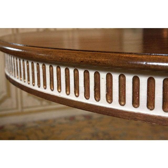 Swedish Mahogany Top Dining Table - Image 4 of 7