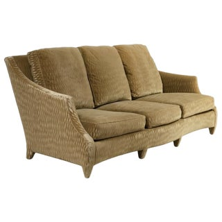 Contemporary Dongia Straight Back Mohair Sofa For Sale