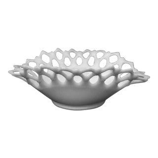 Vintage Westmoreland Doric Milk Glass Oval Bowl For Sale