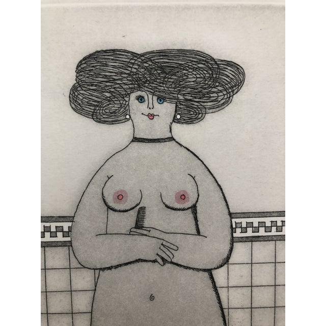 1960s Female Nude Etching Winter Jan Balet Etching 1960s For Sale - Image 5 of 7