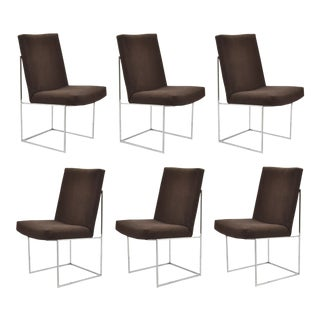 Milo Baughman Set of Six Dining Chairs by Thayer Coggin For Sale