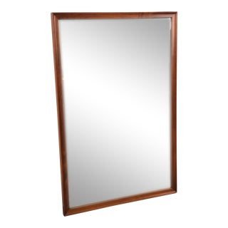 Kipp Stewart for Drexel Declaration Mid-Century Modern Walnut Wall Mount Mirror For Sale