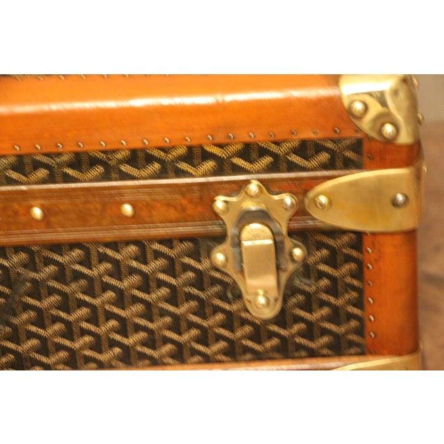 1930s Goyard Cabin Steamer Trunk For Sale - Image 12 of 13