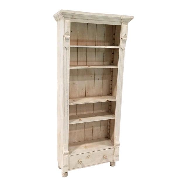 Rustic Tall White Shelf - Image 1 of 9