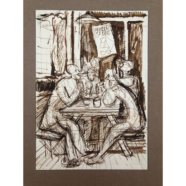 Cafe Conversation by William Palmer, C. 1944 For Sale - Image 4 of 4