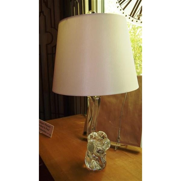 Jean Daum Crystal Lamp, Signed C. 1950's - Image 4 of 5