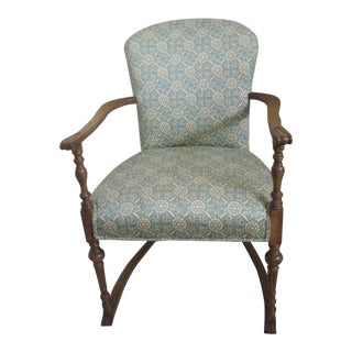 20th Century Boho Chic Accent Chair For Sale