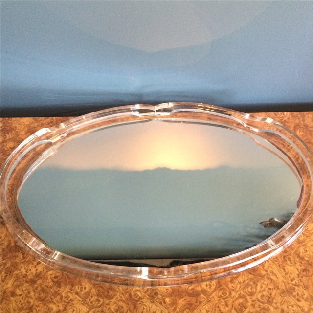 Lucite Mirrored Tray - Image 5 of 5