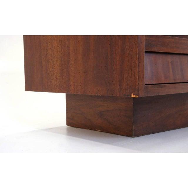 Lane Sculptural/Brutalist Nine-Drawer Walnut Dresser For Sale - Image 9 of 9