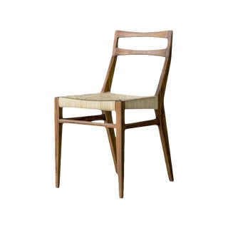 Agnes Mahogany and Rope Chair by Atra For Sale