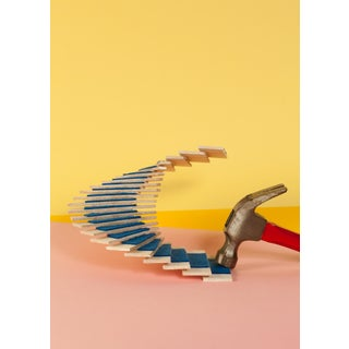 Oscar Niemeyer Staircase Contemporary Architecture #7, Giclée Print Limited Edition of 3, Pastel For Sale