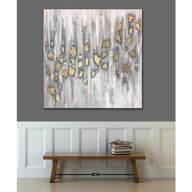 Canvas 'Midas' Original Abstract Painting by Linnea Heide For Sale - Image 7 of 10